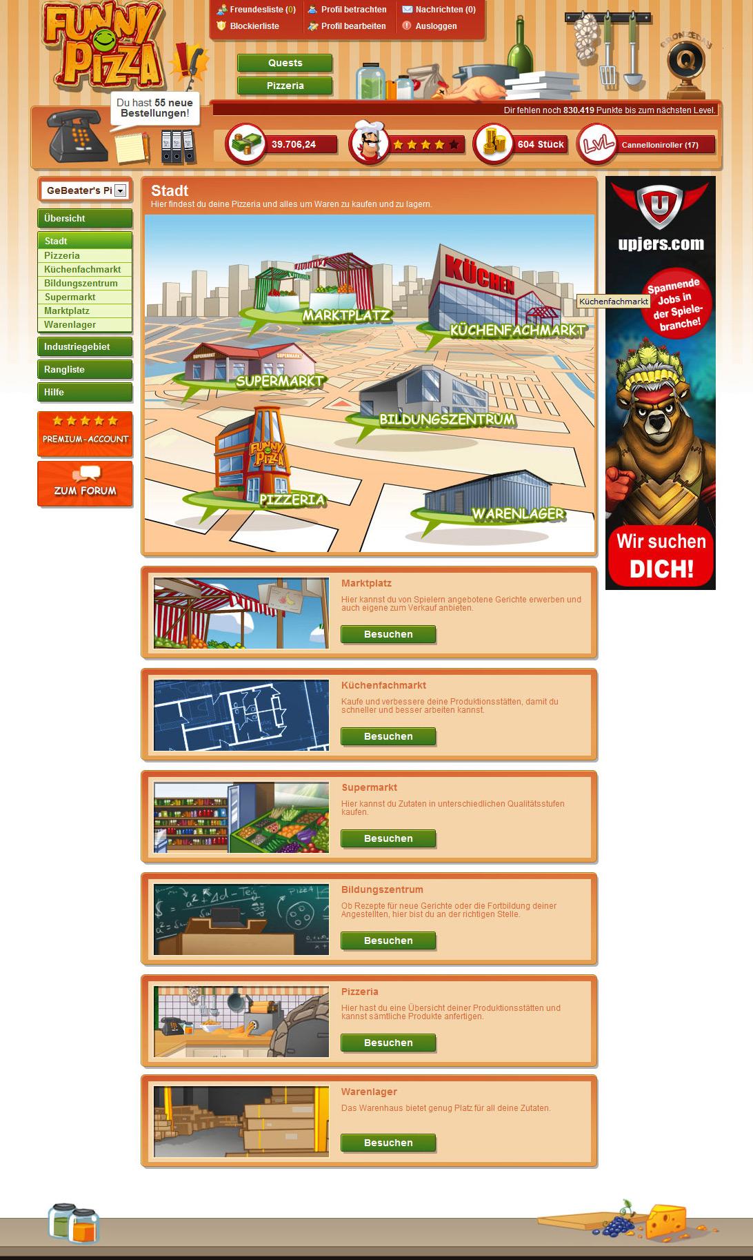 Funny Pizza - Spiele kostenlos das Pizza Spiel von Upjers | upjers.com ...