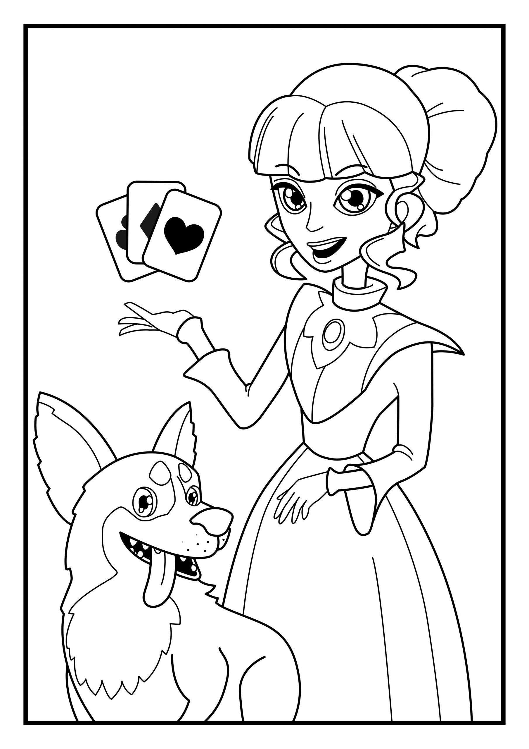 Coloring Page Dog Lizzy