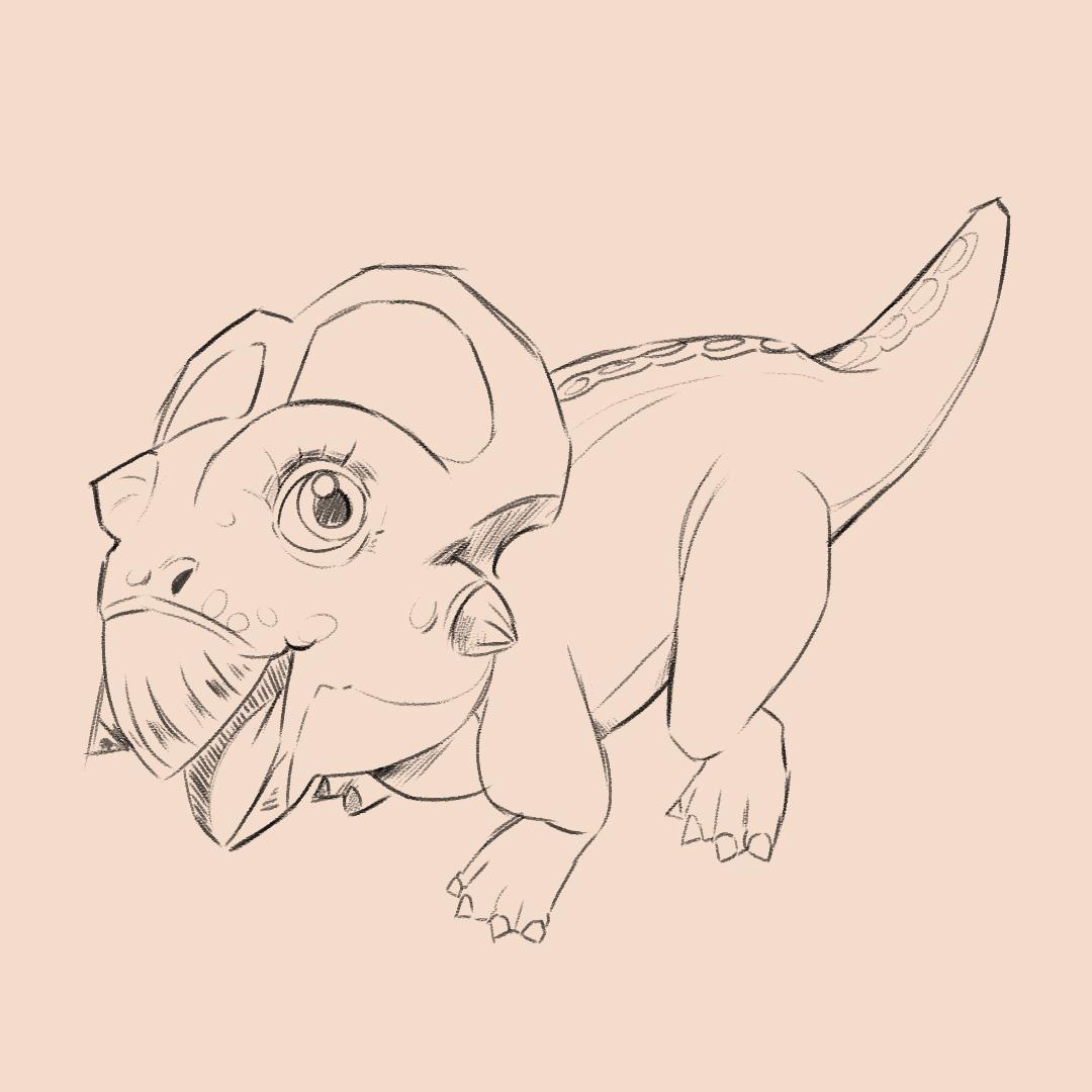Protoceratops Sketches 1/3