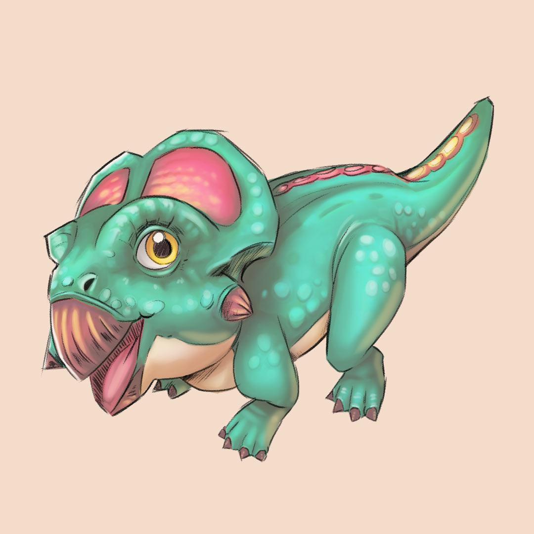 Protoceratops Sketches 3/3