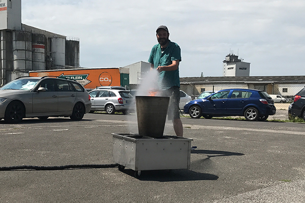 upjers' Brandschutzübung