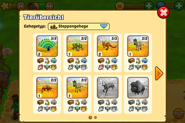 Zoo 2 - Neue Funktionen (5/7)