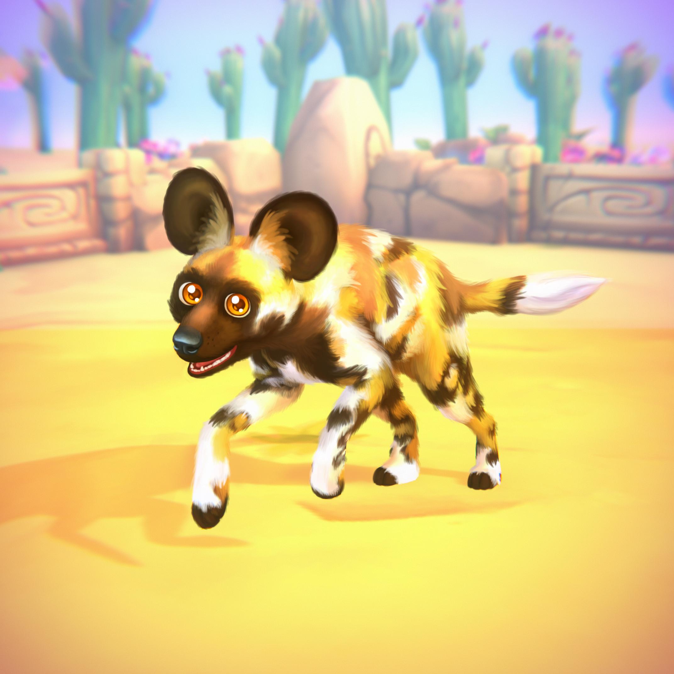 Afrikanischer Wildhund (Premium)