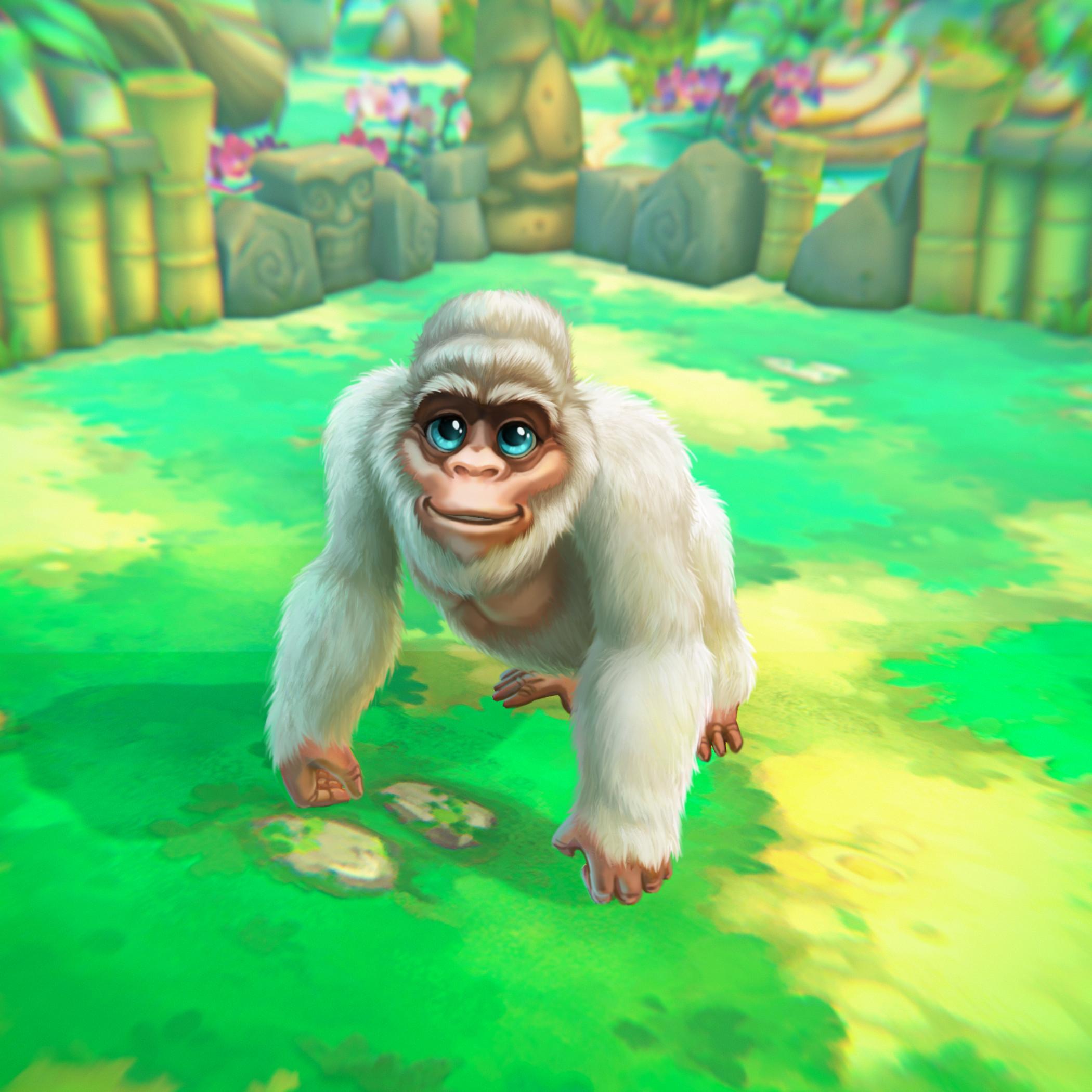 Weißer Gorilla