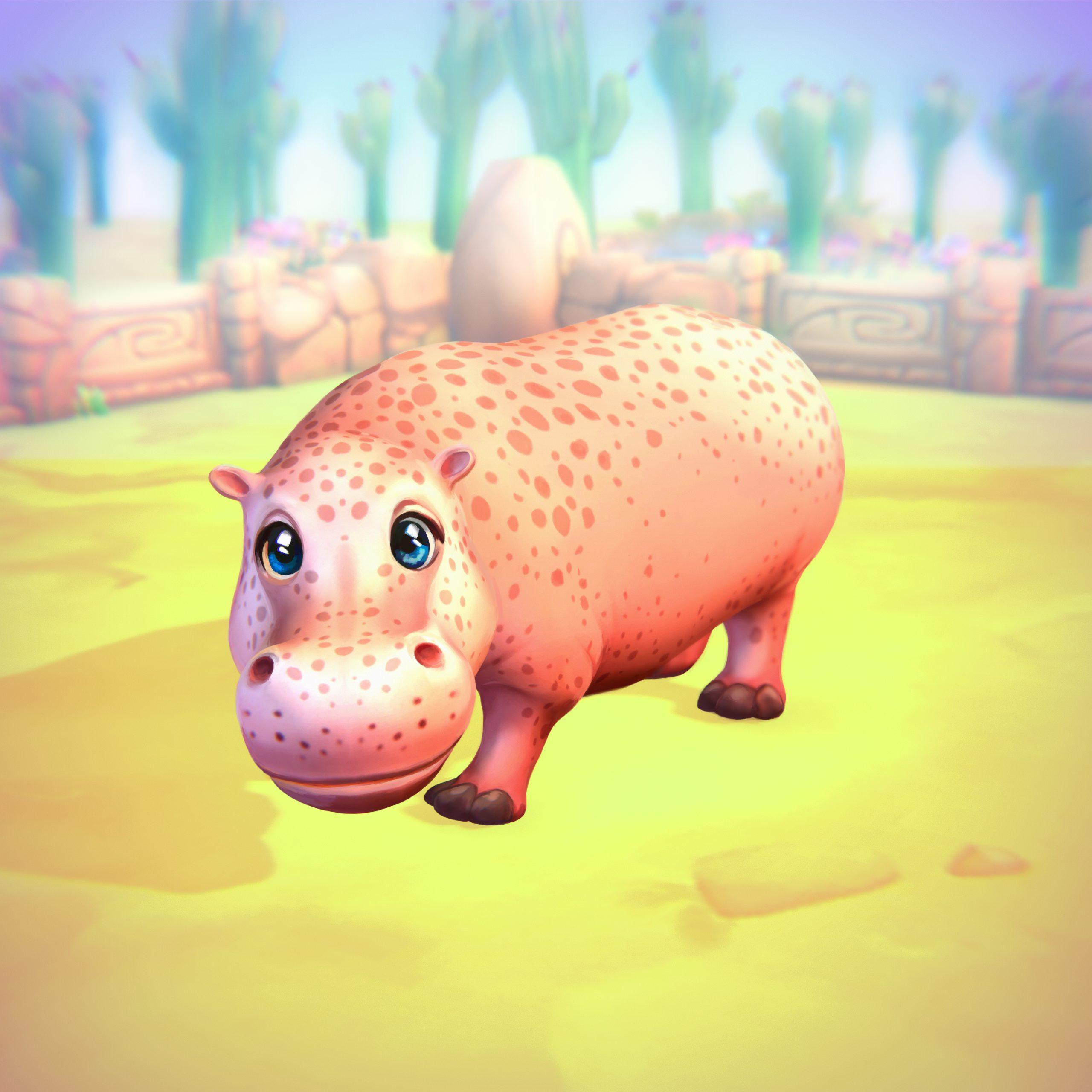 Flusspferd (rosa)