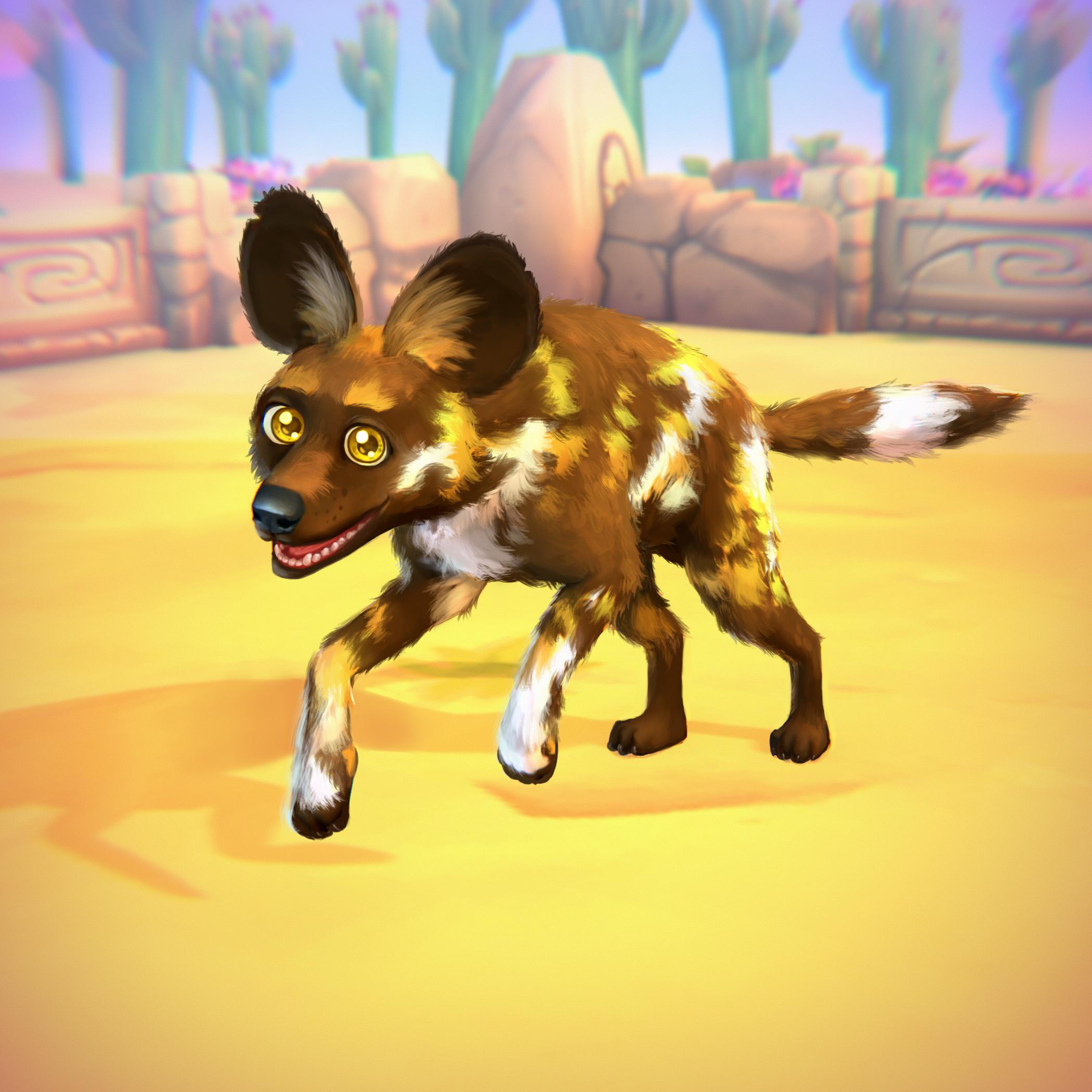 Afrikanischer Wildhund (schwarz)